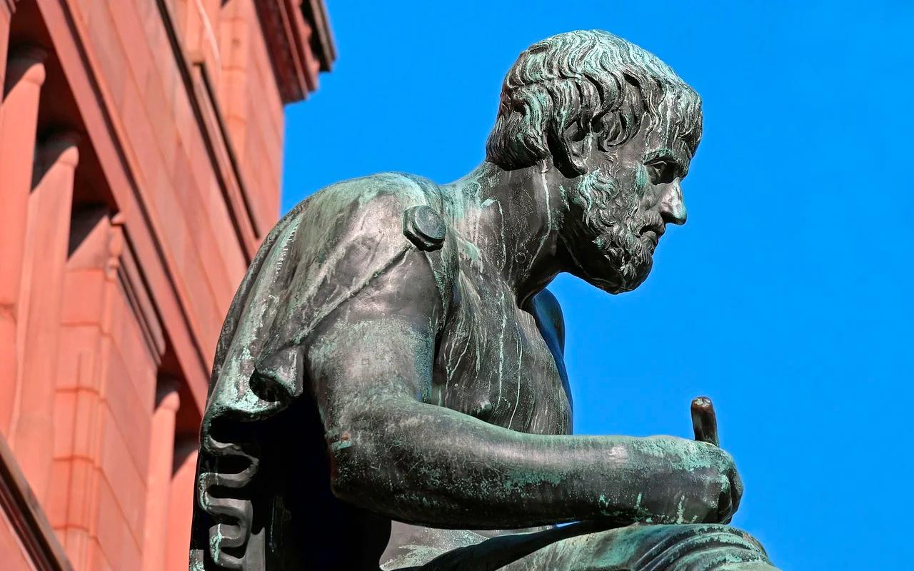 a philosopher sculpture