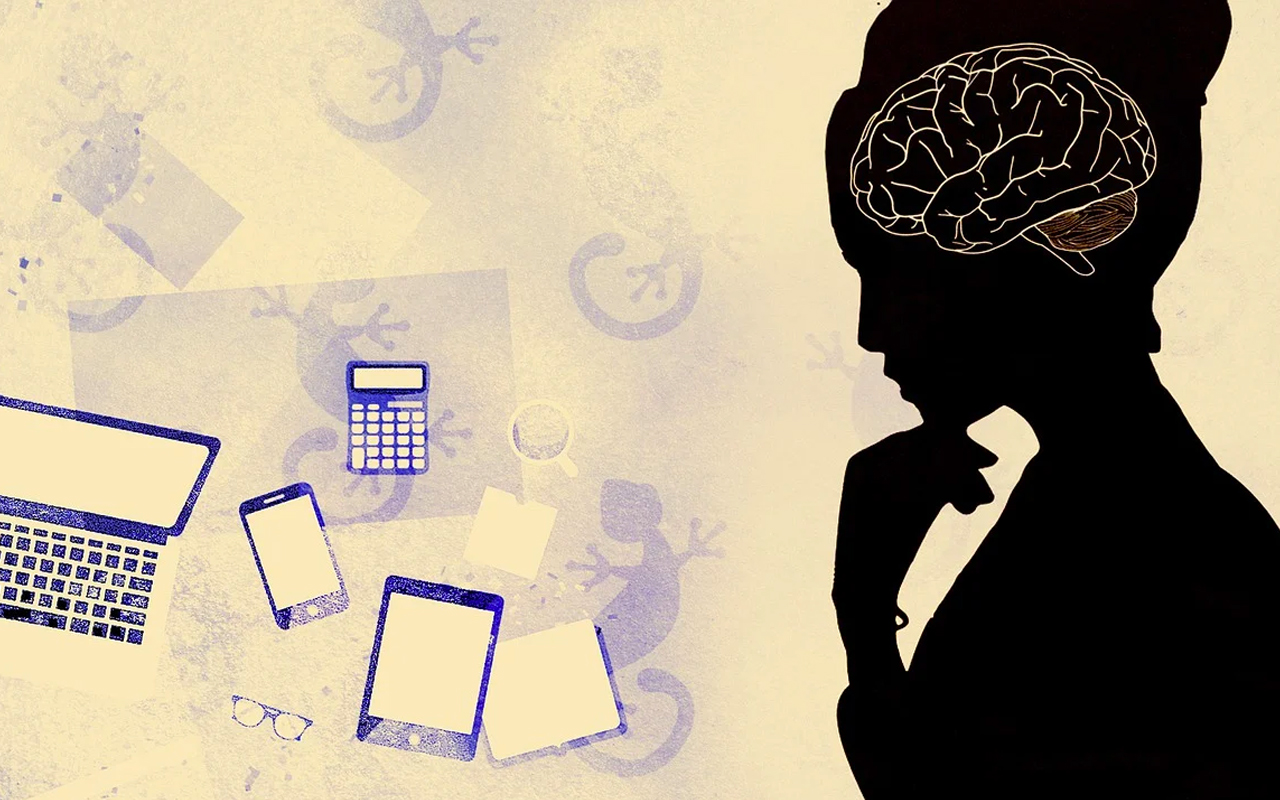 a picture depicting a brain while multitasking