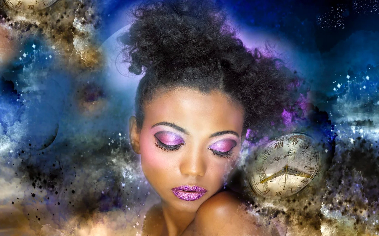 a woman experiencing multi-sensory imagination