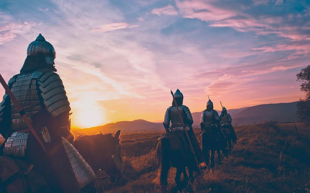 warriors on horses