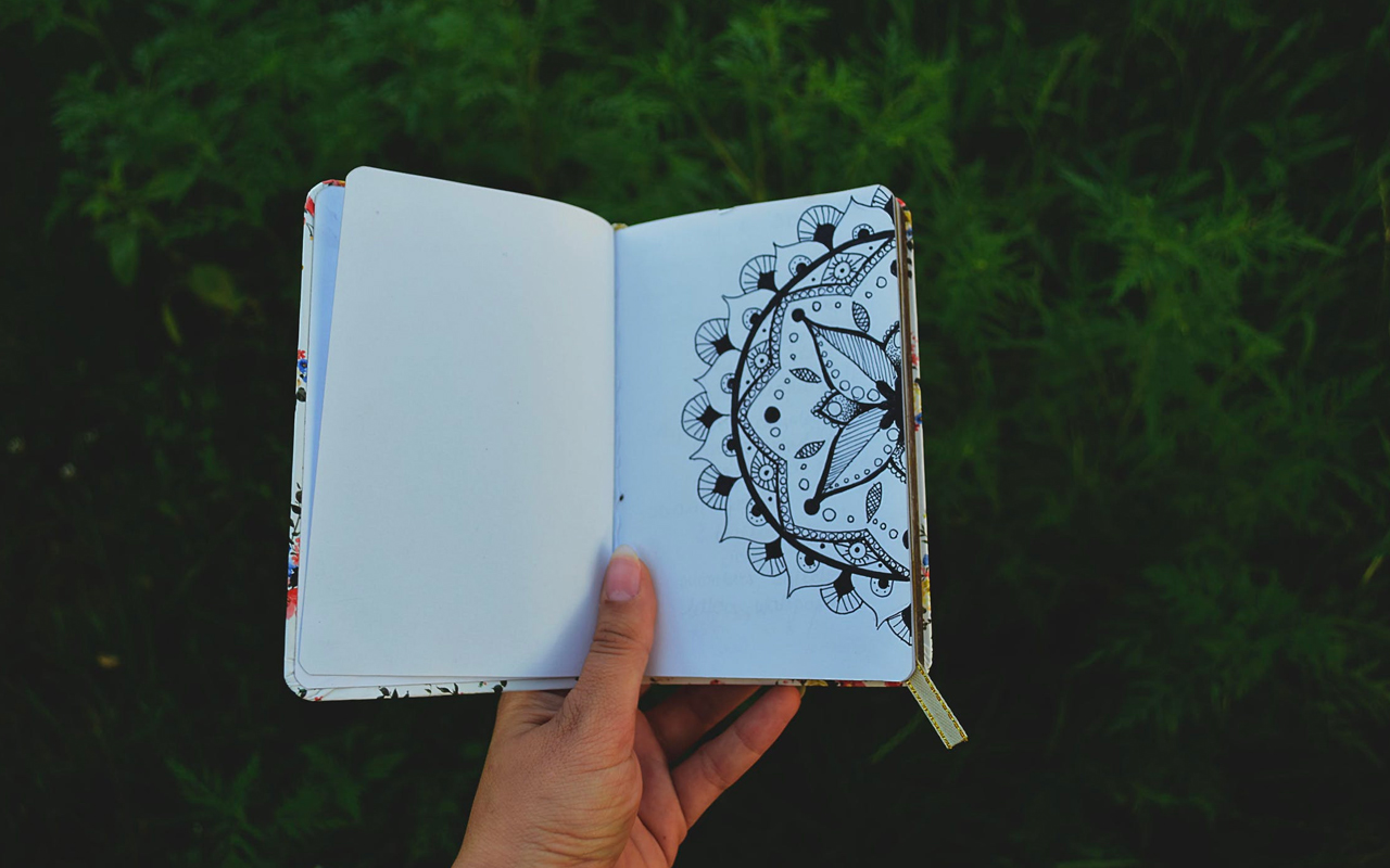 a opened journal