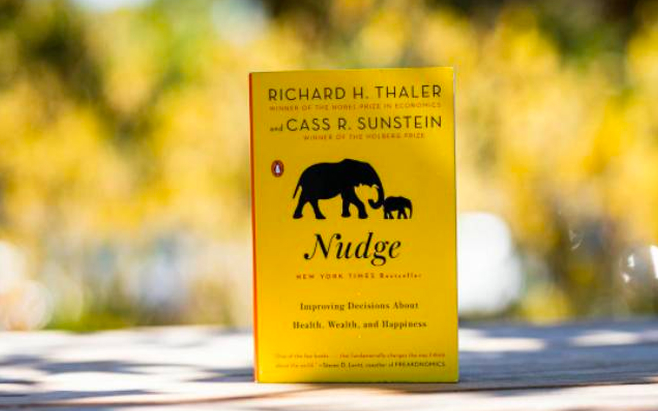 Nudge by Richard Thaler and Cass Sunstein book cover