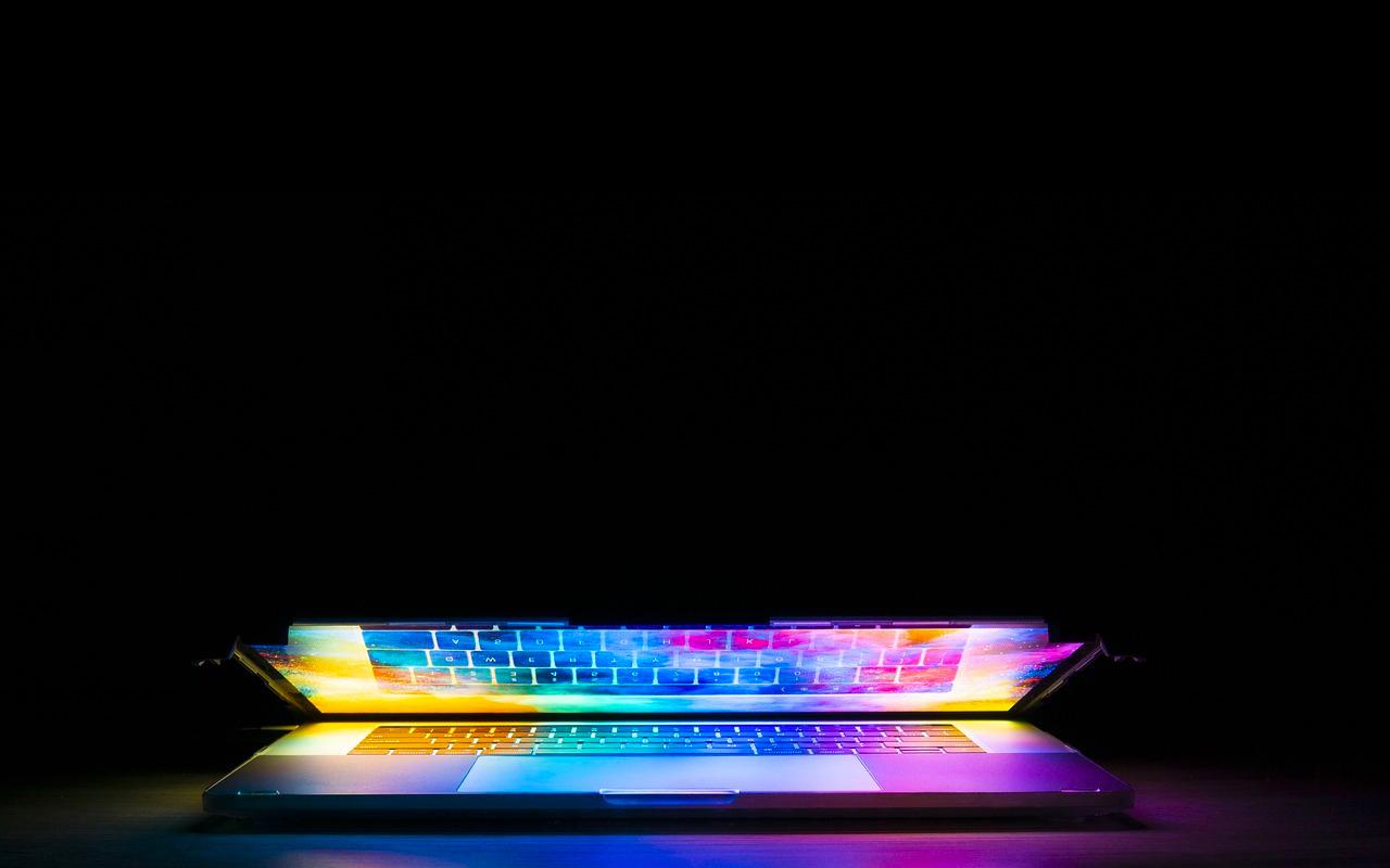 keyboard of a laptop