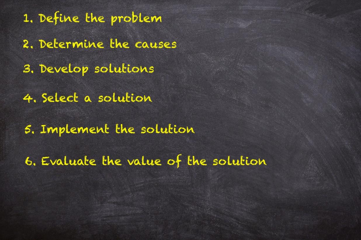 simple problem solving chart