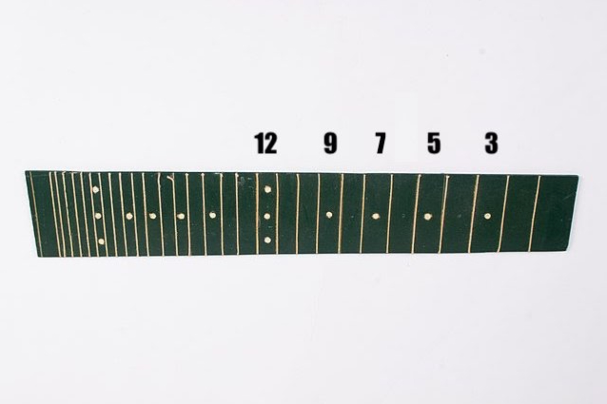 fretboard with dots