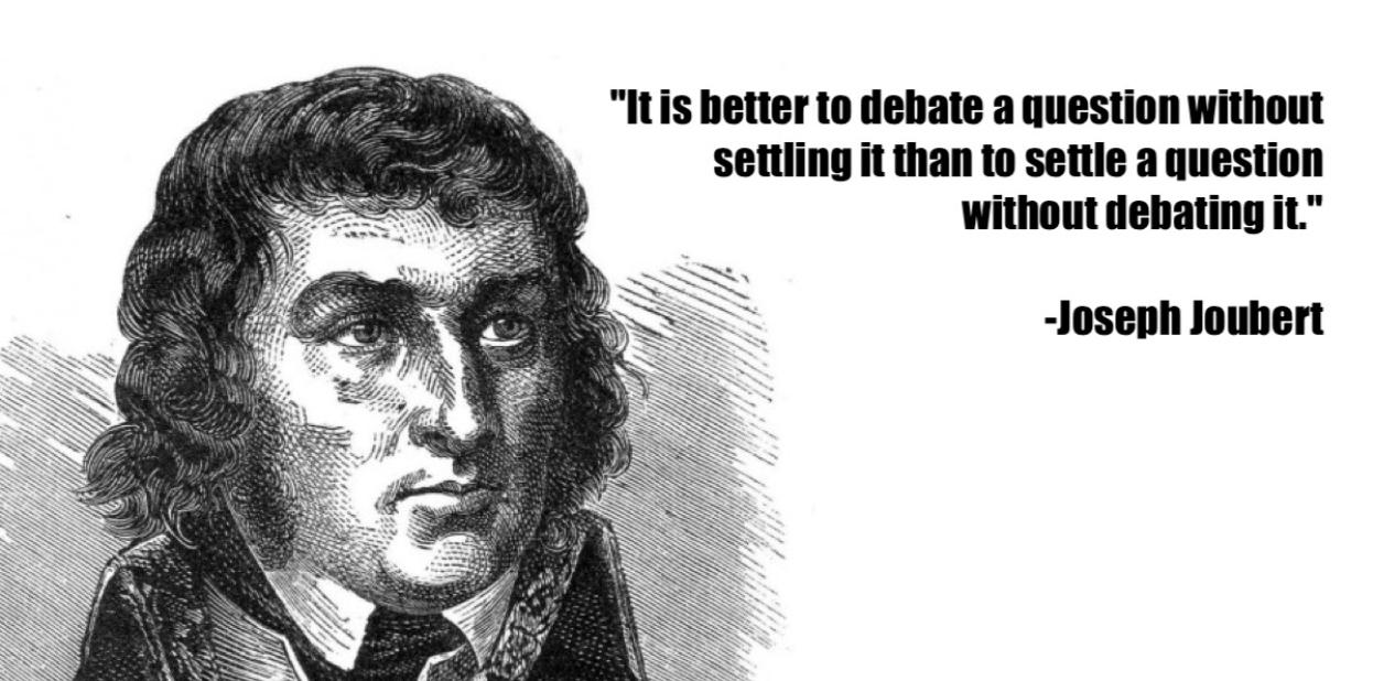 joseph joubert critical thinking quote