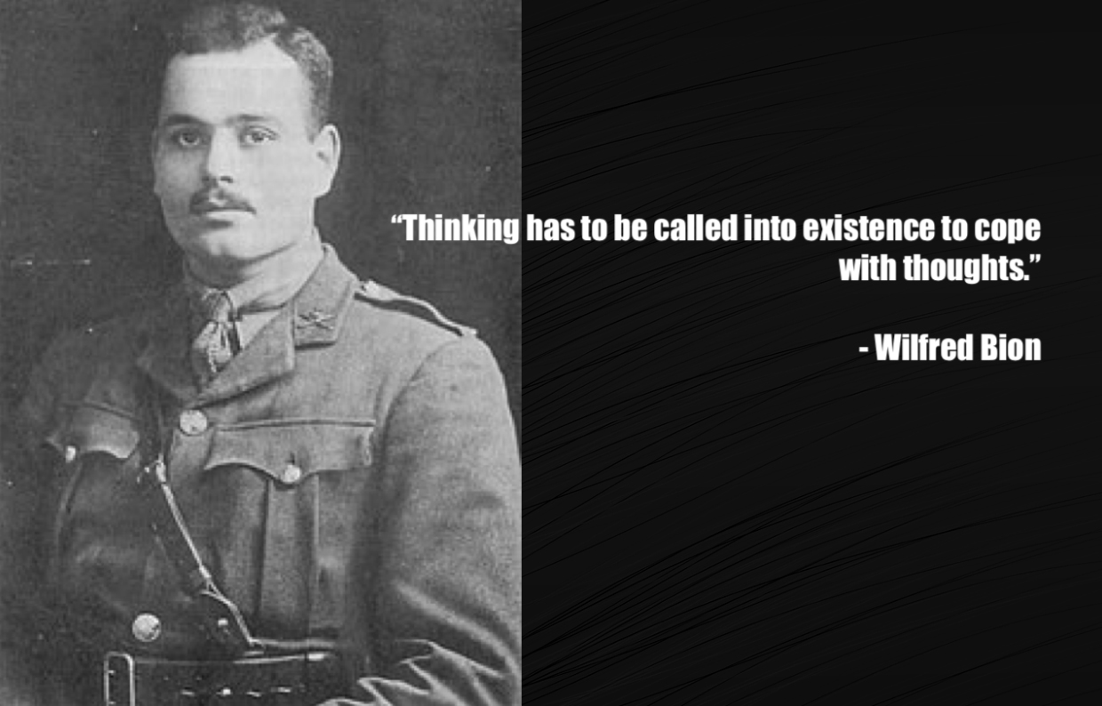 wilfred bion critical thinking example
