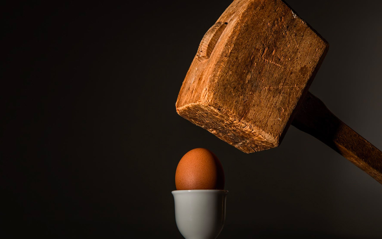 break down an egg