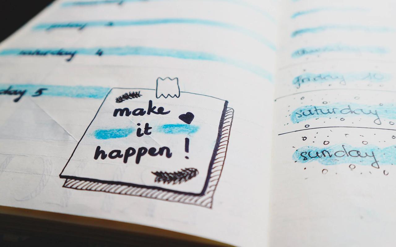 make a plan make it happen