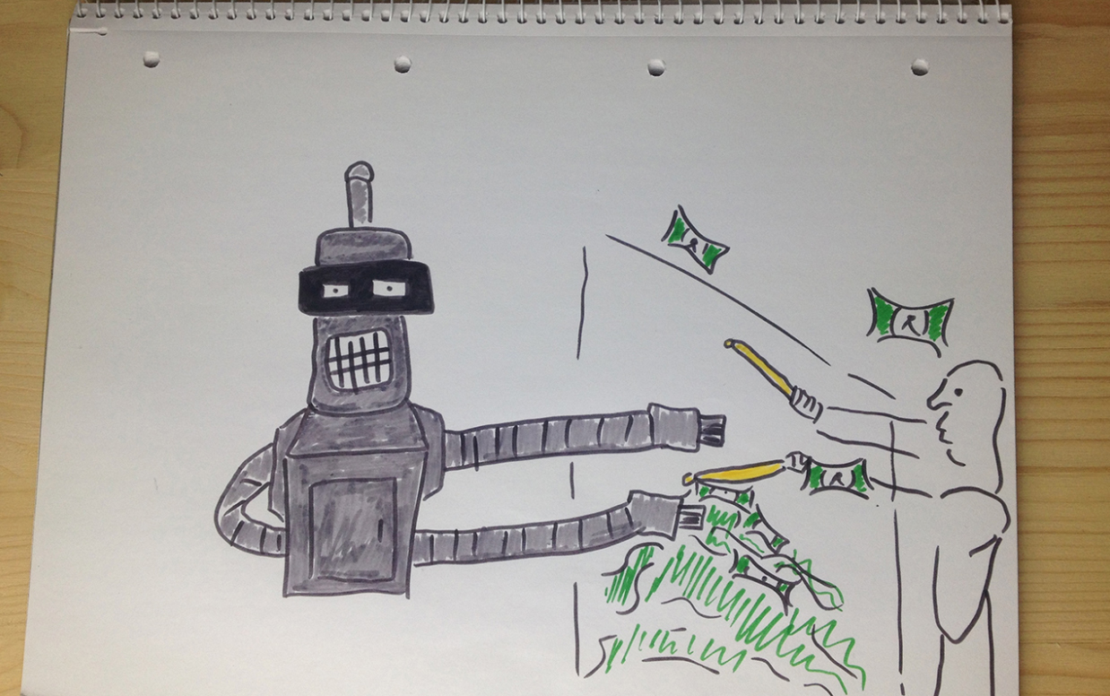 visual memory exercise example of bender from futurama