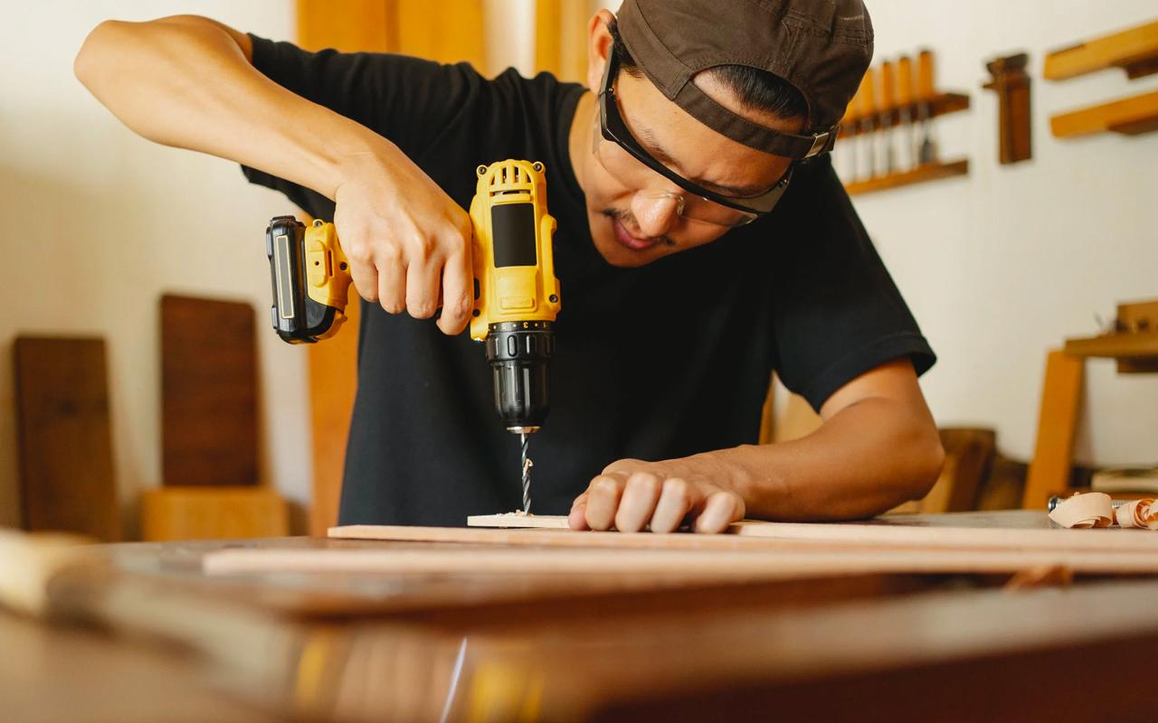 a man is repairing something