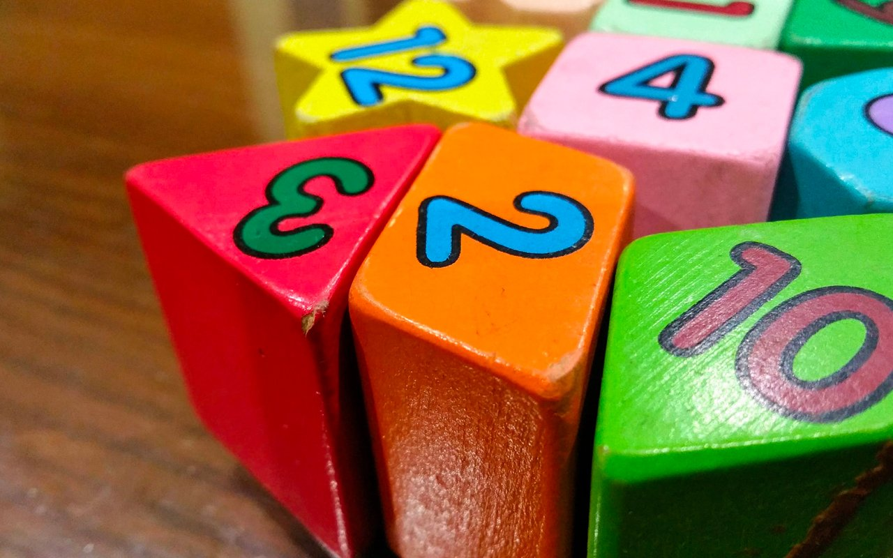 color wood numbers